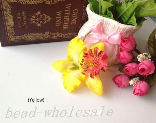 New Wedding Bridal Flower Orchid Hair Clip Forcina Barrette Accessori per capelli