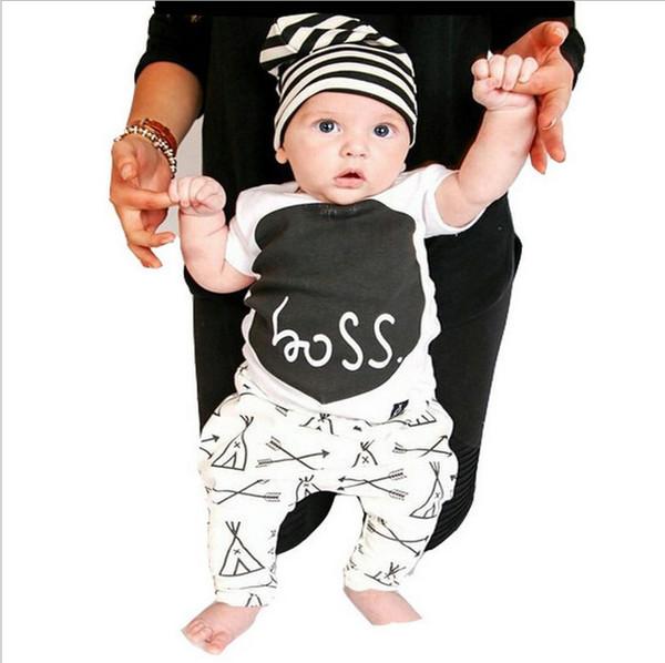 wholesale 2016 kids boys letters clothes baby 2 pieces clothing toddler summer sets children casual short sleeve t-shirt pants suit
