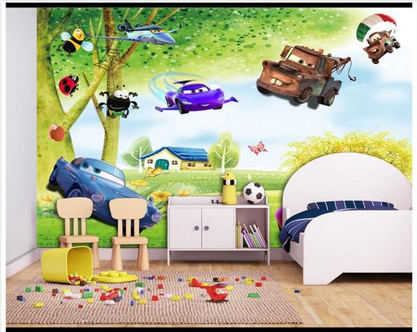 Großhandel 3D Fototapete Benutzerdefinierte Wandbilder Tapete Wandbild Baum  Landschaft Frische Kinderzimmer Cartoon Hintergrund Wandbild Wandbilder ...