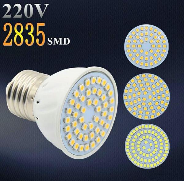 best selling Factory Price LED Spotlight GU10 E27 MR16 Led Lamp 4w AC 220V 3528SMD 48 leds White Warm White LED Lighting