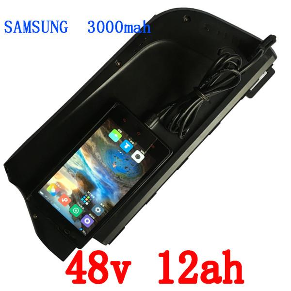 Frete grátis 48 v 750 w para samsung 3000 mah bateria de lítio 48 v 12ah bateria de bicicleta eletrônica com placa e carregador bms