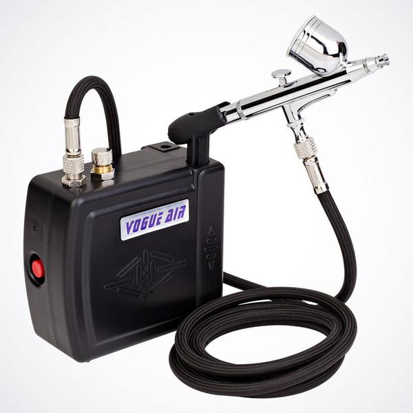 NOVO Airbrush Kit Compressor Nail Art Tatuagem Dupla Ação Spray Air Brush Gun Set