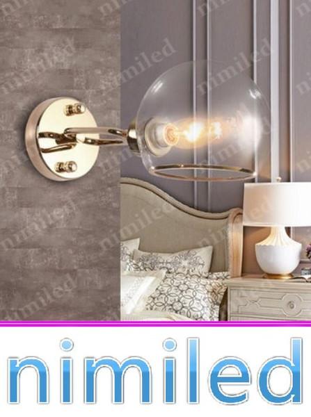 Nimi823 Dia 15 cm * W33.2cm Moderna E14 Glass Ball Soggiorno Lampada da parete Camera da letto Balcone Illuminazione corridoio Corridoio Luci della cucina