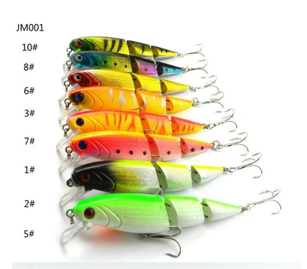 Wholesale Price Fishing Tackle 8PCS Multi-section Fishing Lures 10.5cm Plastic Hard Baits 14g Artificial Fake Lure for Saltwater