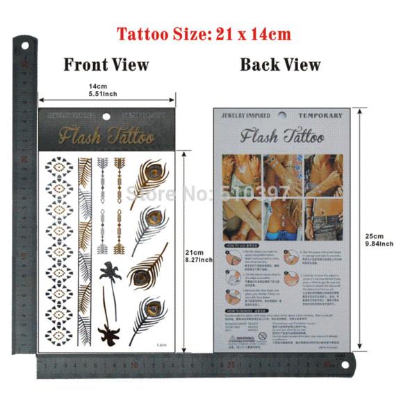 pc/lot/TJ011,Temporary Tattoo Flash/Bracelet,wrist strap,Arrow/waterproof Gold Metallic fake tatoo sticker Sex/Christmas gift gift mirror...
