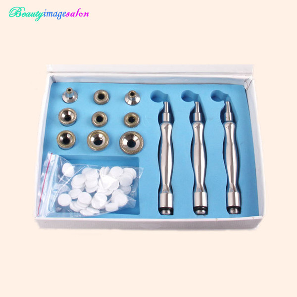 Hot Sale Dermabrasion Mircrodermabrasion With 9 Diamond Tips 3 Diamond Wands Cotton Filter for Replacements Beauty Device