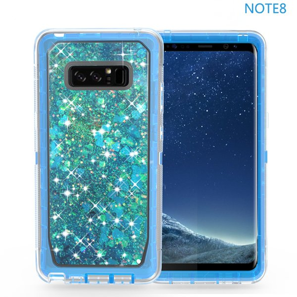 Per iphone 8 7 Plus 6s plus galaxy note 8 s8 plus Clear Clear Robot Liquid sabbie mobili Custodia glitter per telefono dinamico