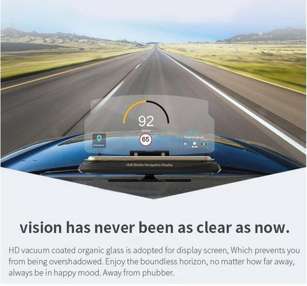 Head up display,car HUD phone GPS navigation image reflector and cell phone holder mount for univeral smart mobile cell phone