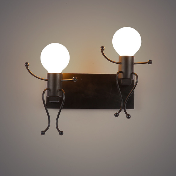 Modern Creative Cartoon LED Wall Lamps Children Room Wall Light Bedroom  Bedside Wall Sconce Cute DIY