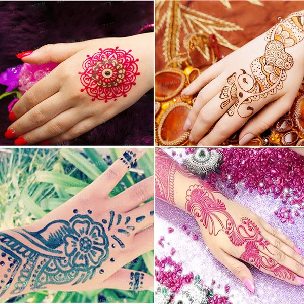 Wholesale-Brand Body Painting Makeup Tattoo Kit 6 Color Women Face Body Paint Henna Cones Indian Mehndi Pigment Henna Tattoo Paste Make Up