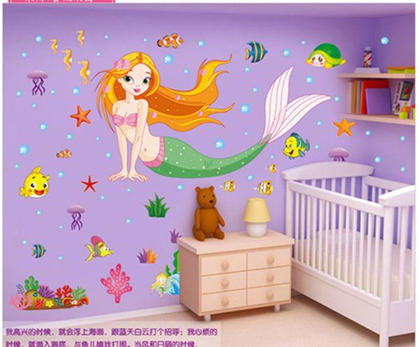 Meerjungfrau Aufkleber Bad Wasserdichte Wandaufkleber Kinder Schlafzimmer Wohnzimmer Dekoration Kann Entfernen Warme An Glas