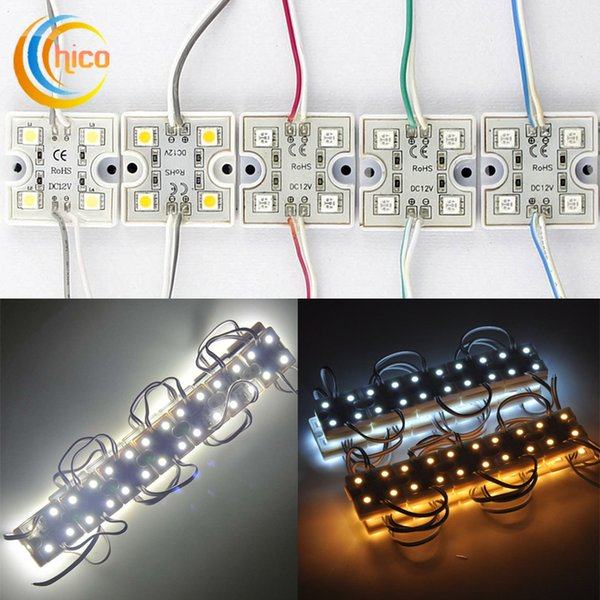 module de lumière led SMD 5050 4LED Module étanche 36 * 36mm 4led module modules carrés DC12V blanc chaud blanc rouge vert jaune bleu