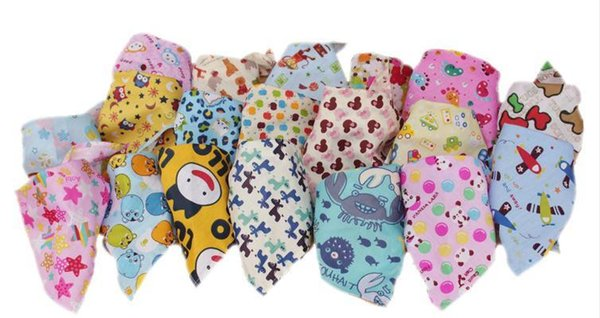 New baby Bibs Pure cotton triangular bandage With children saliva towel and pet dog head scarf neckerchief baby Burp Cloths 1565
