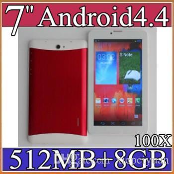 "100X 7 inch 7"" 3G Phablet Android 4.4 MTK6572 Dual Core 8GB 512MB Dual SIM GPS Phone Call WIFI Tablet PC Bluetooth 3-7PB"