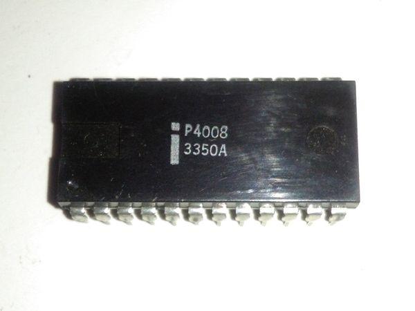 P4008. PDIP24. Collection Vintage Chips collecter, vieux circuit intégré IC, double en ligne 24 dip dip plastique emballage. Composant élèctronique
