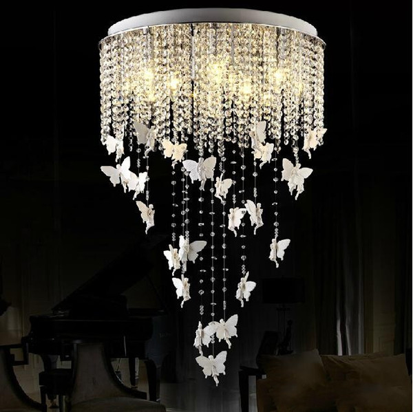 europische runde kristall lampe prinzessin engel schmetterling kronleuchter pendelleuchten beleuchtung fr wohnzimmer deckenleuchte schlafzimmer leuchte - Kronleuchter Fur Wohnzimmer
