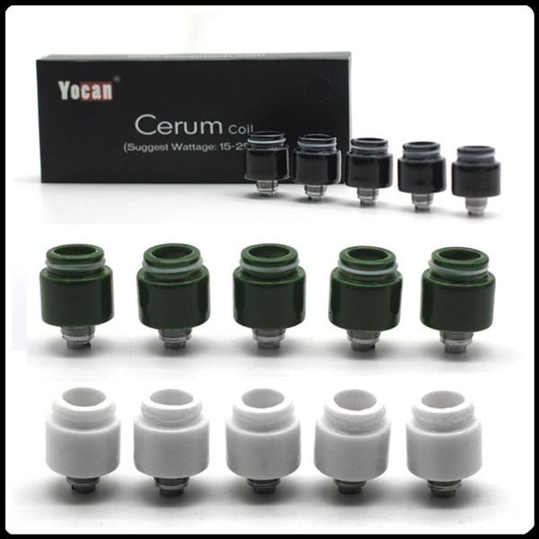 Bobinas de repuesto originales de Yocan Cerum Cuarzo bobinas dobles QDC para vaporizador de cera Yocan Cerum 3 colores disponibles Envío rápido