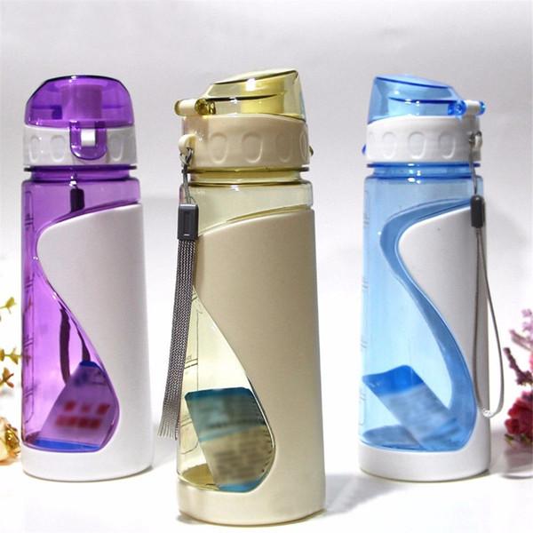 Nagelneu 700 ml Wasserflasche Outdoor Sports Gesundheit Fleisch Obst Zitronensaft Trinkbecher Flasche Mit Strap Schule Drinkware