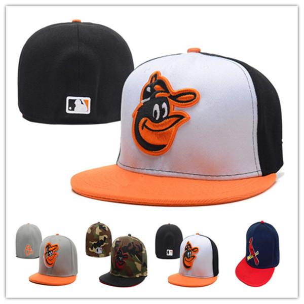 Berretto da baseball a toppa con borchie Cappello da baseball a tesa larga con tesa larga della squadra Team Orioles Classic Retro Fashion