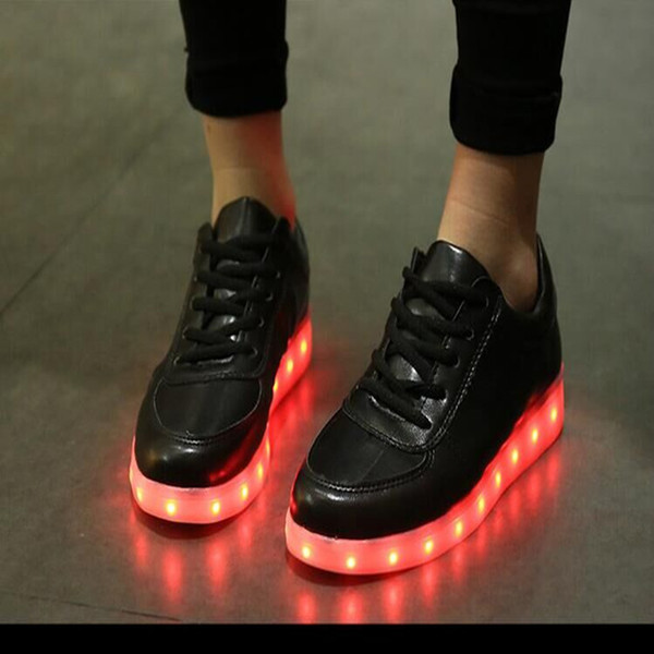 LED Shoes In Black color