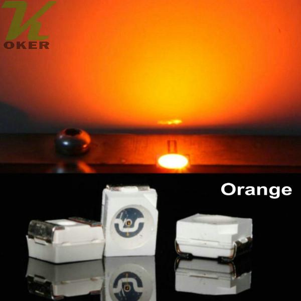 10000pcs/reel Orange PLCC-2 SMD 3528 (1210) LED Lamp Diodes Ultra Bright SMD3528 1210 SMD LED Free shipping