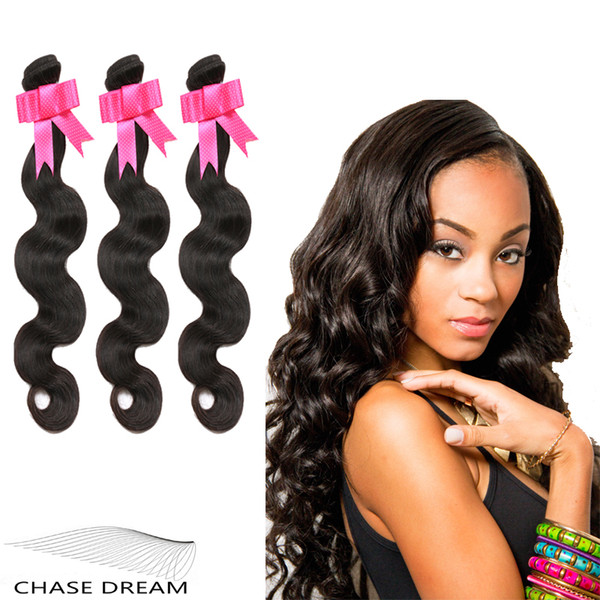 Chase Dream 6a Unprocessed Human Hair Extensions Body Wave Hair 3