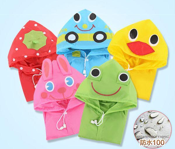 top popular High quality children's raincoat,Cartoon raincoat for students model ,Wholesale Raincoat,free shipping 2019