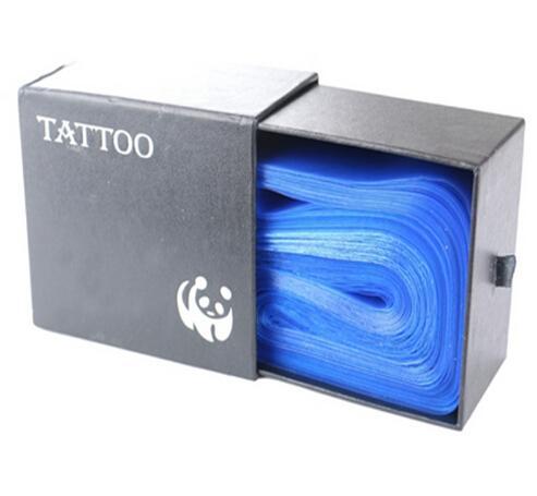 100 Pcs Plástico Azul Tatuagem Clipe Cabo Mangas Cobre Sacos de Abastecimento de Novo Hot Tatuagem Profissional Acessório Acessório de tatuagem