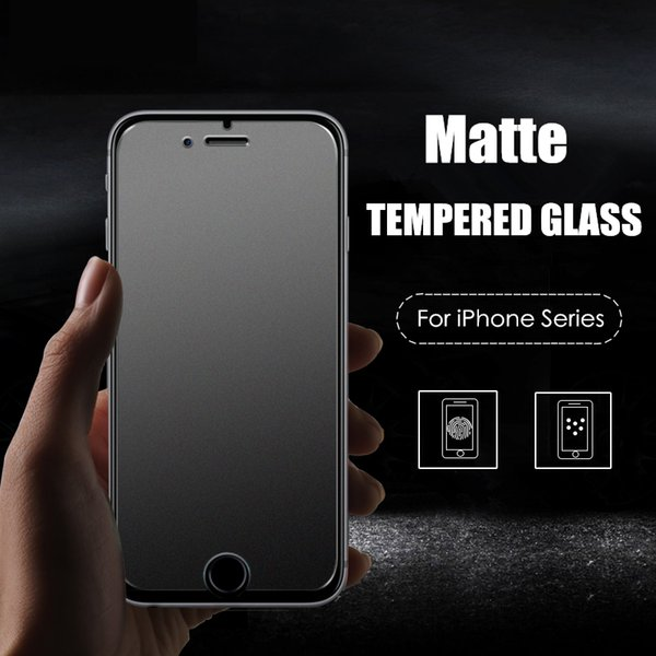 Wholesale-9H Frosted Tempered Glass Film For Apple iPhone 4 4S 5 5S SE 5C 6 6S Plus  Matte No Fingerprint Glass Screen Protector