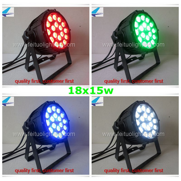 20xlot outdoor par can 18x15w 5in1 rgbaw waterproof led par64 from feituo lighting high quality