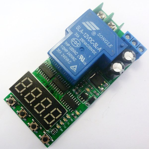 DC 12V 30A Multifunction Timer Delay Relay Module High Power On/Off Adjustable for PLC Motor LED Car