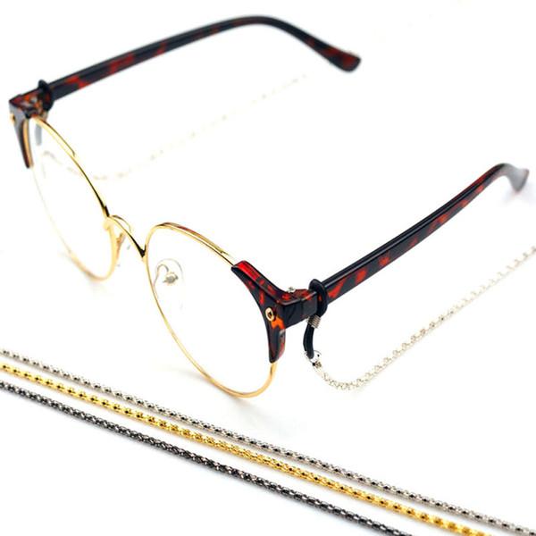 Prezzo all'ingrosso economico della catena del metallo degli occhiali da sole del supporto dei cavi della catena antisdrucciolevole dei vetri di lettura 3pc freeshipping