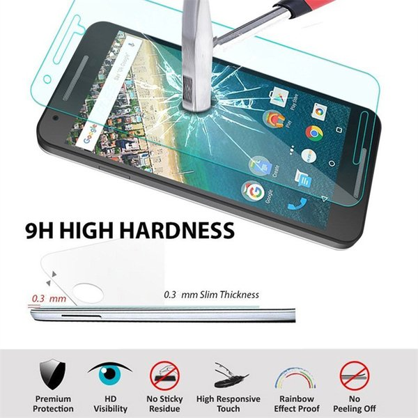 Wholesale-2.5D 9H 0.3mm  Tempered Glass for Huawei Y6 Y3C Mate 7 8 Honor 3C 4C 4X 5X 6 Screen Protective Film Cover Protection