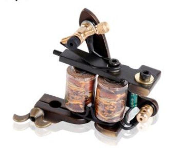 Venda quente bobina de tatuagem profissional metralhadora de alta qualidade de cobre puro 10 bobinas forro e arma tatuagem sombreamento XL M204