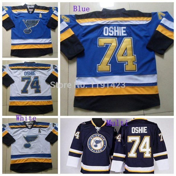 604492f05 Discount Cheap Men s St.Louis Blues TJ Oshie Ice Hockey Jerseys  74 T.J.  Oshie Jersey Alternate Navy Blue Third Stitched Jerseys