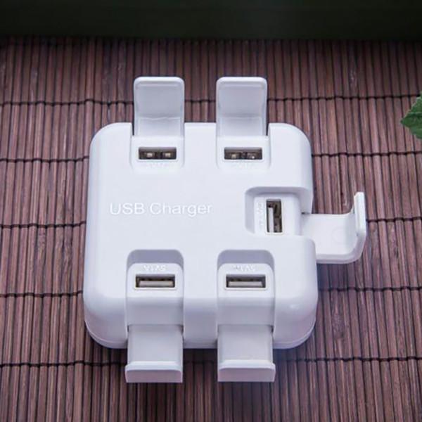 Venda por atacado- Estação de carregador USB Celulares Stand Charger HUB Plug UE 5 Portas USB Tensão de entrada 220V Tensão de saída 5V 1A