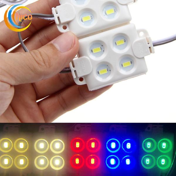 Led ışık modülü SMD 5730 4LED Modül Boyutu 36 * 36 Yüksek Parlak Enjeksiyon modülü beyaz kırmızı yeşil mavi sarı sıcak beyaz soğuk beyaz