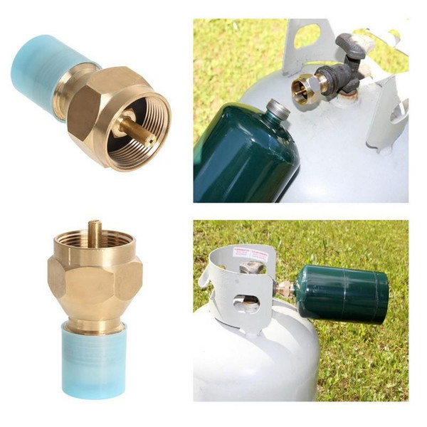 Hot Propane Refill Adapter Gas Cylinder Tank Coupler Riscaldatore campeggio Hunt H210683 H210683