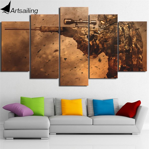 5 Panels Crossing the line of fi Modern Abstract Canvas Oil Painting Print Wall Art Decor for Living Room Home Decoration Framed/Unframemcla