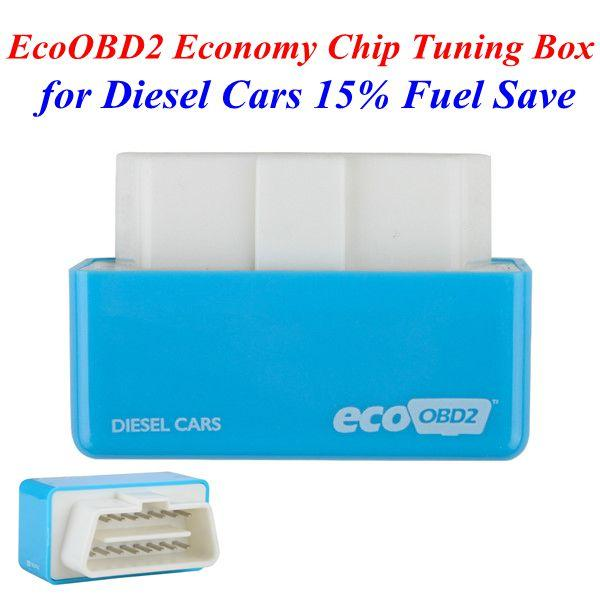Free Shipping!Plug and Drive EcoOBD2 Economy Chip Tuning Box for Diesel Cars 15% Fuel Save Best Quality