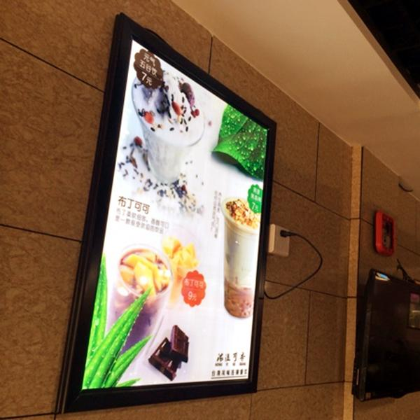 Led Edge-lit Restaurant Menu Board,A1 snap frame led menu light box