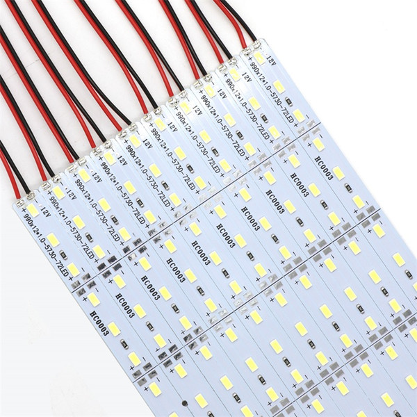top popular 5630 SMD 72 LED 100CM LED Rigid Strips Lights for Night Market Jewelry Counter Showcase Aluminum Sheet Lamp 2019