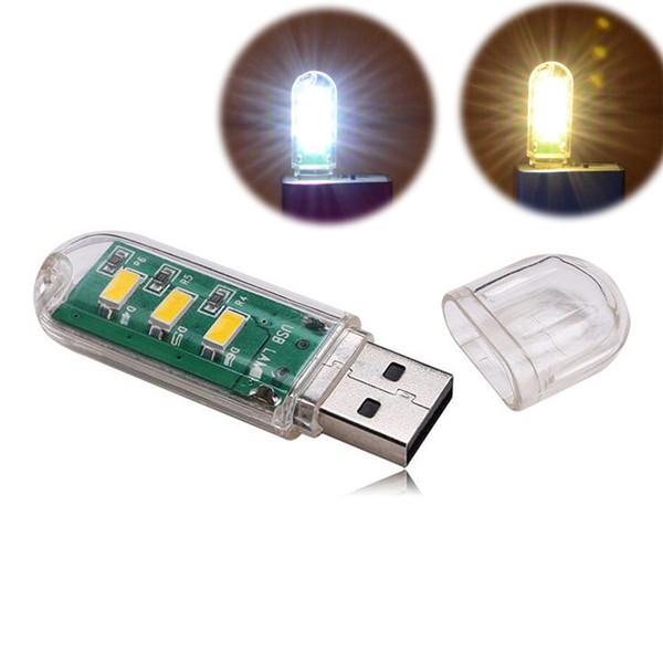 Mini USB LED Light Lamp Night Light USB Flash Disk Style for Power Bank Laptop PC Computer PVC Case