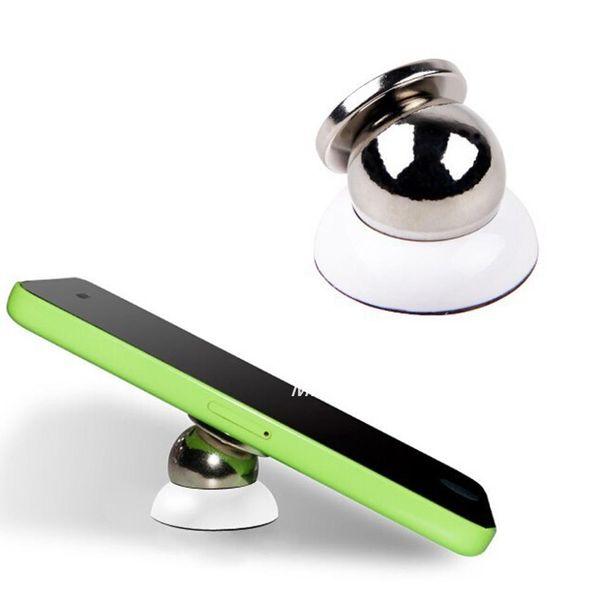 Universeller magnetischer Autotelefonhalter 360 Grad-Umdrehungshalter für iPhone 6s Plus Samsung S6 s5 s4 Unterstützung GPS DVR Standplatz Freies Verschiffen