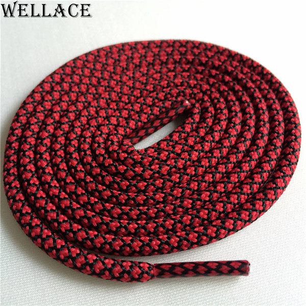 Wellace multi color shoelaces round colored shoe strings replacement latchet kids sport shoe lace bright colors bootlace 120cm for 350