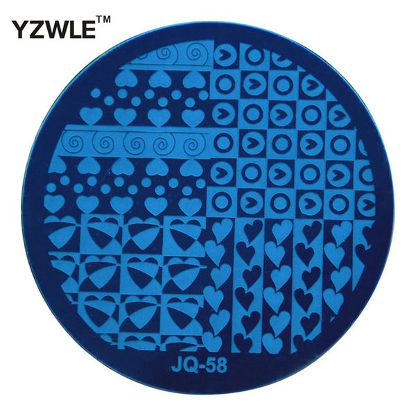 Wholesale- YZWLE 1 Pcs Stainless Steel Plate Image Stamp Stamping Plates DIY Manicure Template Nail Polish Tools (JQ-58)