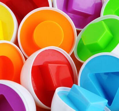 Plastik Hediye Kutusu çocuk eğitici oyuncaklar. Akıllı yumurta oyuncağı eşleştirme. Bebek renk şekli bilişsel eşleştirme oyuncaklar, erken çocukluk educati