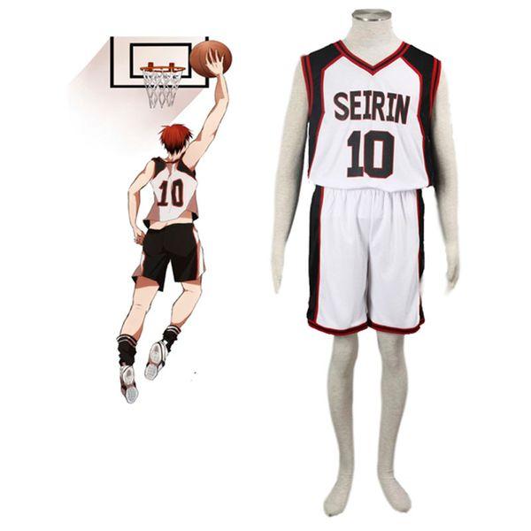 best selling Wholesale-Hot Anime Kuroko no Basuke SEIRIN basketball uniforms clothes Number 10 unisex Kuroko Tetsuya Sport cosplay costume