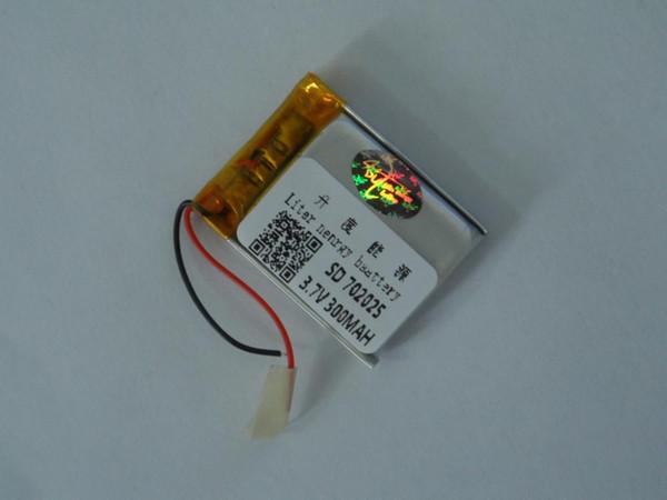 Hot selling Polymer manufacturers direct marketing 702025 3.7V 300mAh electronic lighter LED shoe light lithium battery