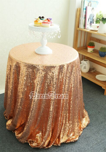 Incroyable 72 Round Rose Gold Sequin Table Cloth Covers For Wedding Party Or Small  Sequin Tablecloths Many